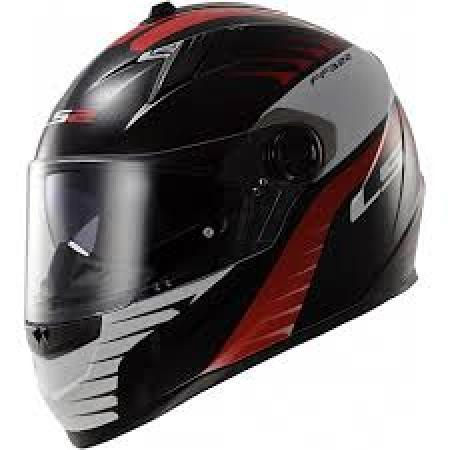 LS2 FF322 AIR FIGHTER BLACK RED