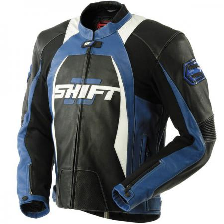 SHIFT SR-1 Leather Jacket Black/Blue