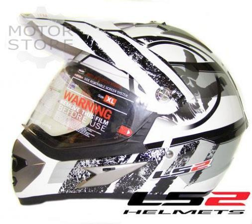 LS2 MX 433 STRIPE VISOR BLACK