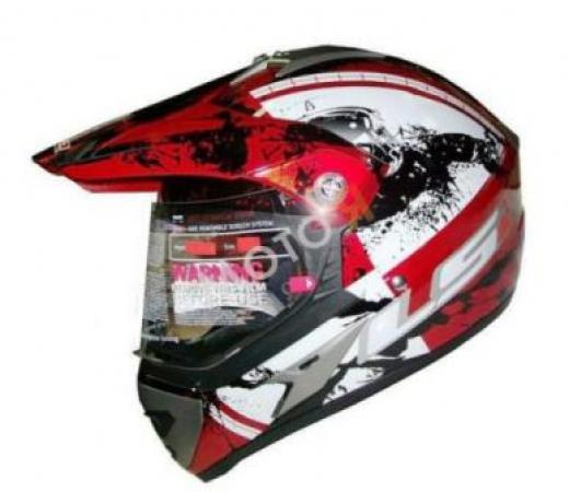 LS2 MX 433 STRIPE VISOR RED